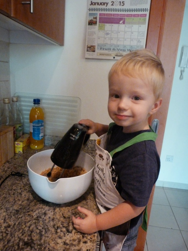 baking with toddler